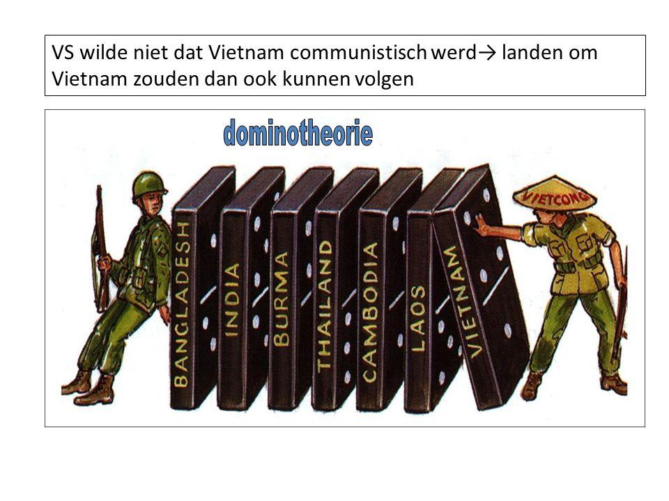 16.000 Franse militairen 50.000 Vietminhstrijders Geholpen door 100.000 arbeiders die Chinees wapentuig over moeilijk begaanbare paden aanvoerden Slag bij Dien Bien Phu 13 maart tot 7 mei 1954 Fransen moeten de strijd opgeven Vietminh heeft nu grootste deel Vietnam in handen