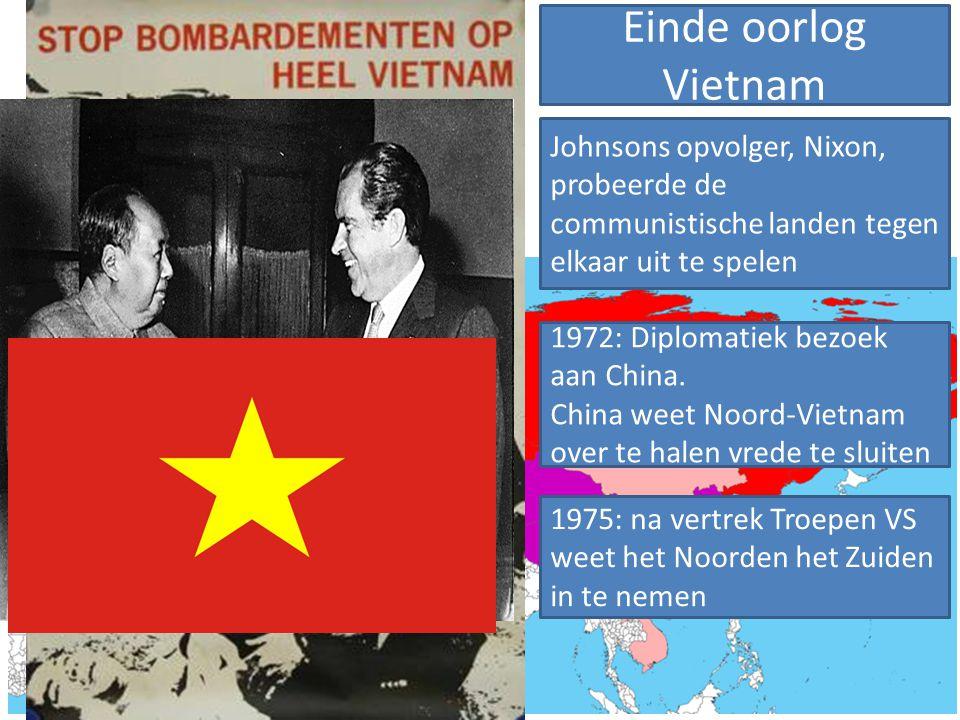 VS wilde niet dat Vietnam communistisch werd→ landen om Vietnam zouden dan ook kunnen volgen