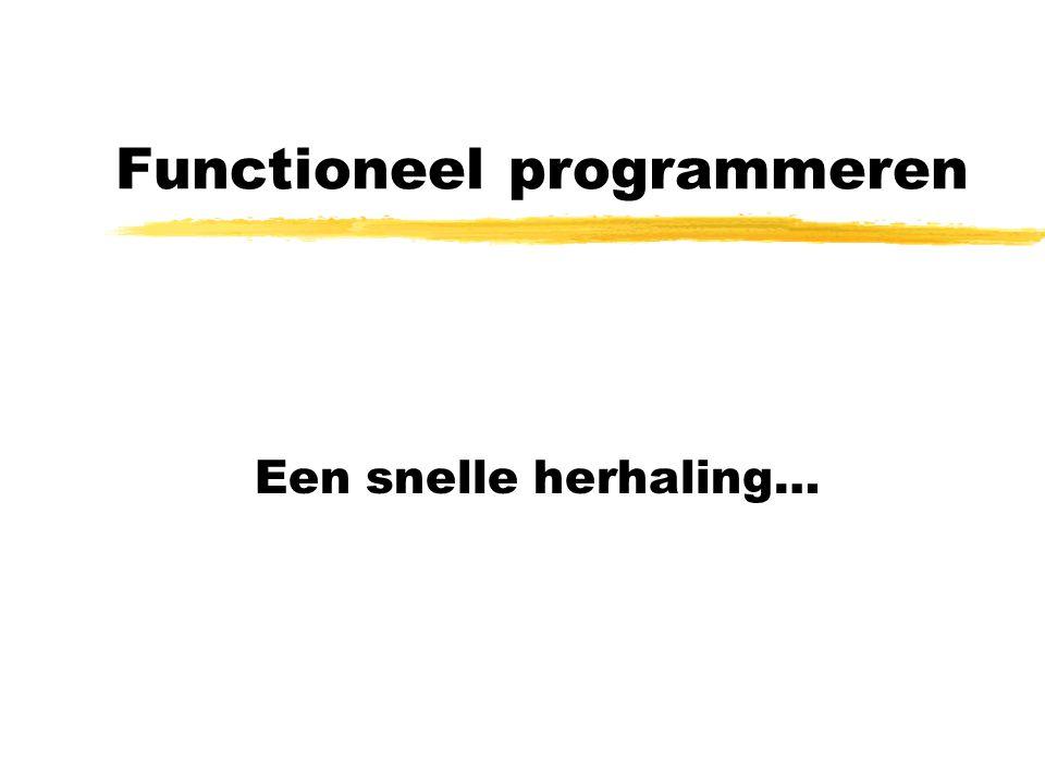 Functioneel programmeren Een snelle herhaling…