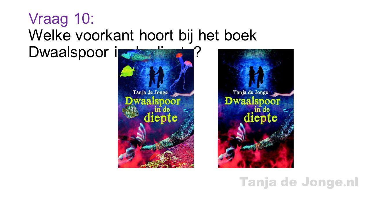 Tanja de Jonge. nl Vraag 10: Welke voorkant hoort bij het boek Dwaalspoor in de diepte?