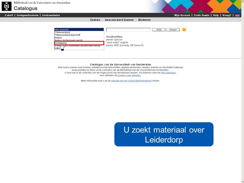U zoekt materiaal over Leiderdorp