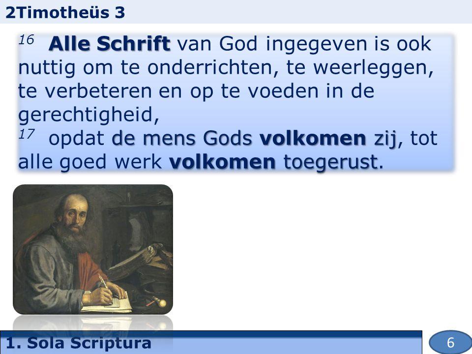 1. Sola Scriptura 7