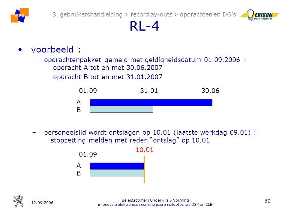 12.09.2006 Beleidsdomein Onderwijs & Vorming infosessie elektronisch communiceren pilootcentra OSP en CLB 60 3.
