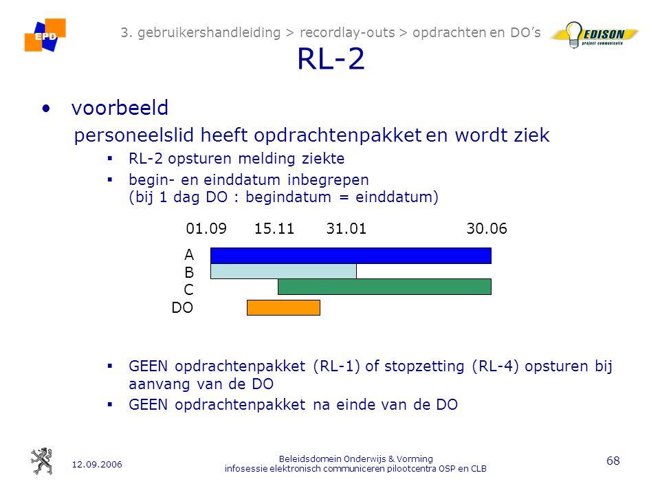 12.09.2006 Beleidsdomein Onderwijs & Vorming infosessie elektronisch communiceren pilootcentra OSP en CLB 68 3.
