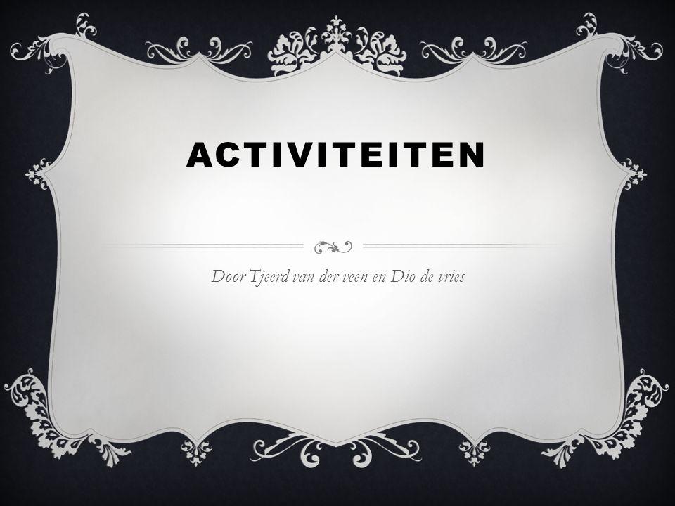 ACTIVITEITEN Door Tjeerd van der veen en Dio de vries