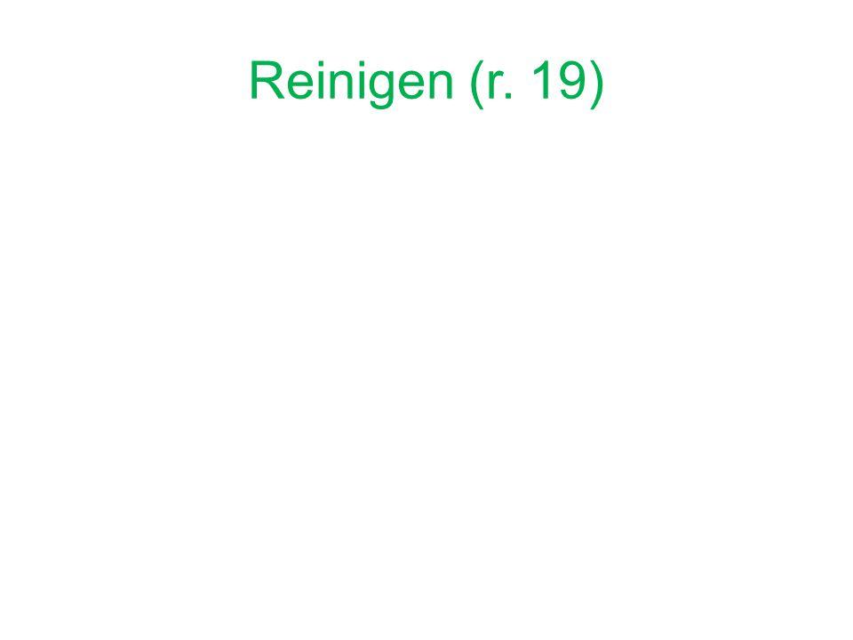 Reinigen (r. 19)