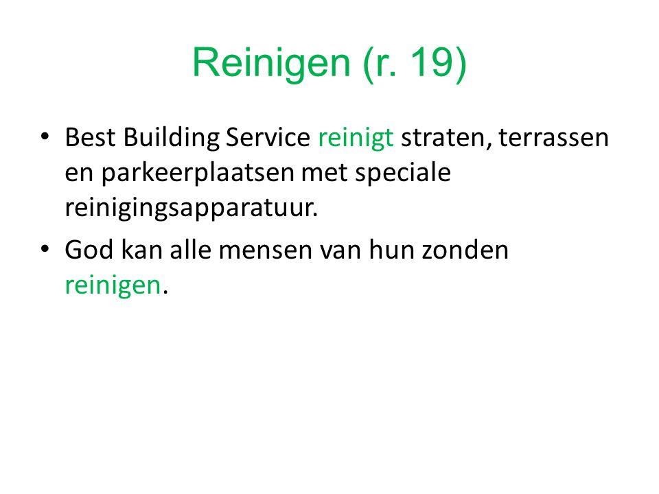 Best Building Service reinigt straten, terrassen en parkeerplaatsen met speciale reinigingsapparatuur.