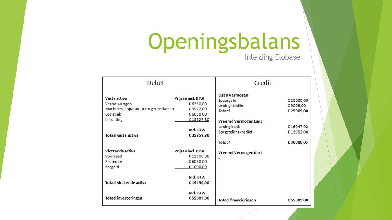 Openingsbalans Inleiding Elobase