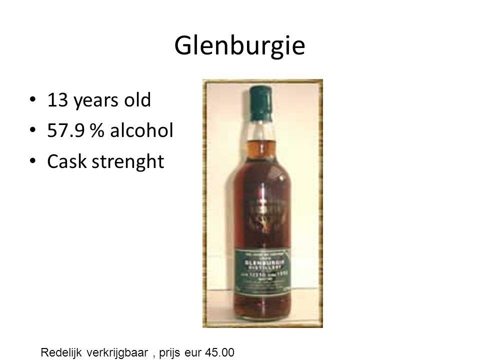 Glenburgie 13 years old 57.9 % alcohol Cask strenght Redelijk verkrijgbaar, prijs eur 45.00