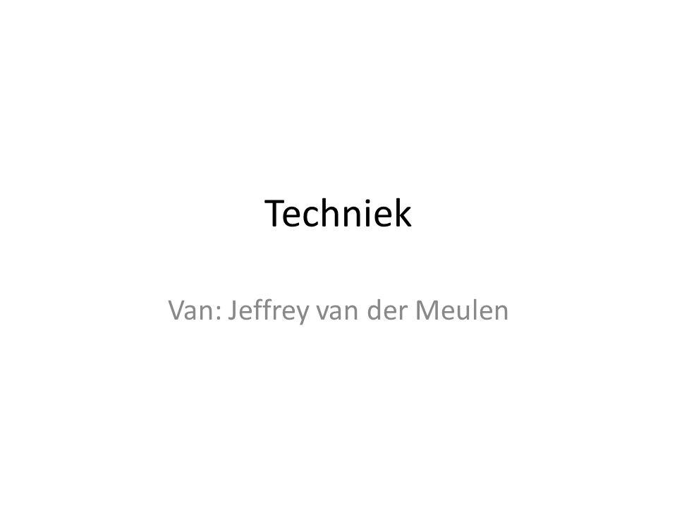 Techniek Van: Jeffrey van der Meulen