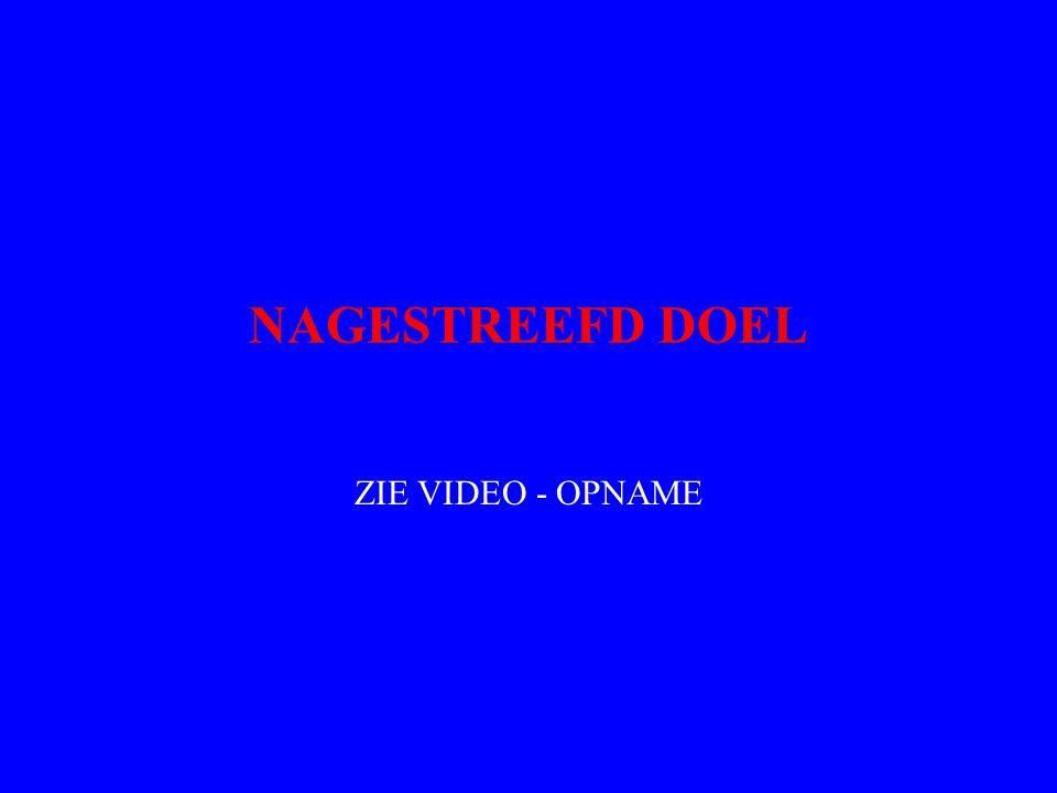 NAGESTREEFD DOEL ZIE VIDEO - OPNAME