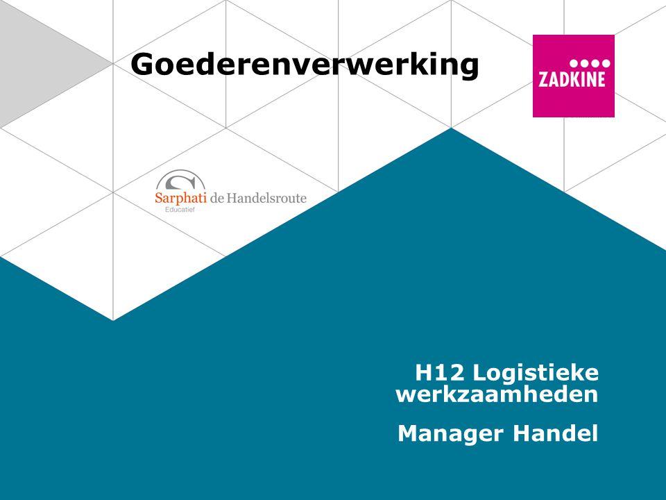 Goederenverwerking H12 Logistieke werkzaamheden Manager Handel