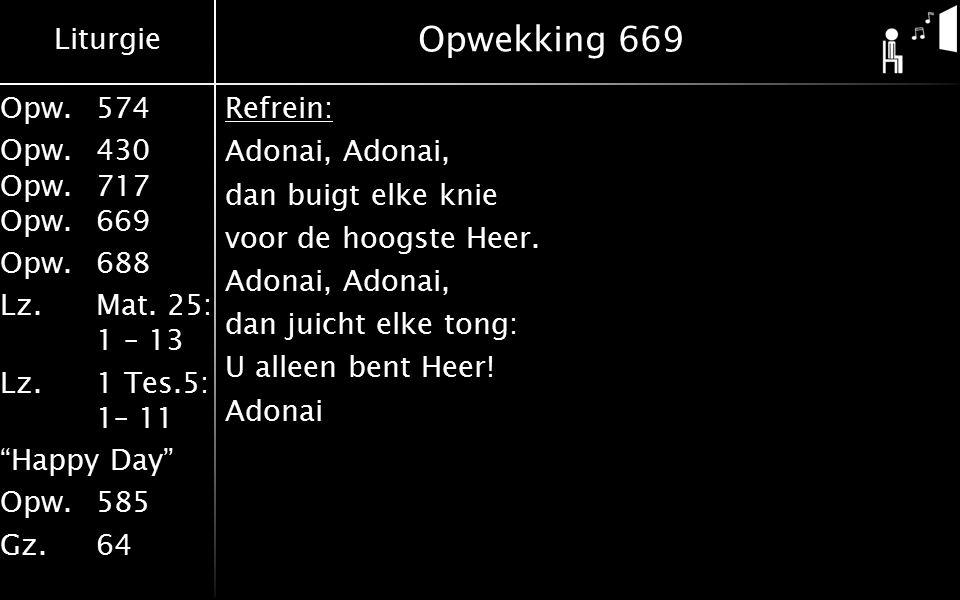 Liturgie Opw.574 Opw.430 Opw.717 Opw.669 Opw.688 Lz.Mat.
