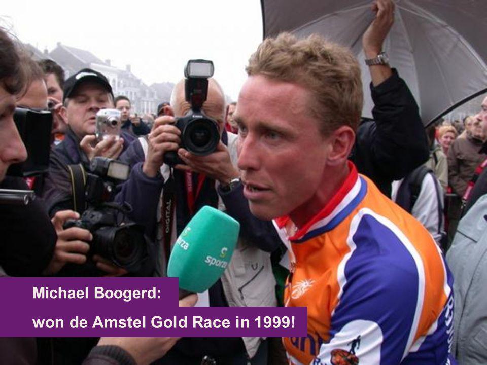 won de Amstel Gold Race in 1999! Michael Boogerd: