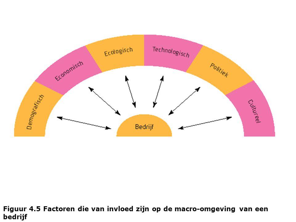 Figuur 4.5 Factoren die van invloed zijn op de macro-omgeving van een bedrijf