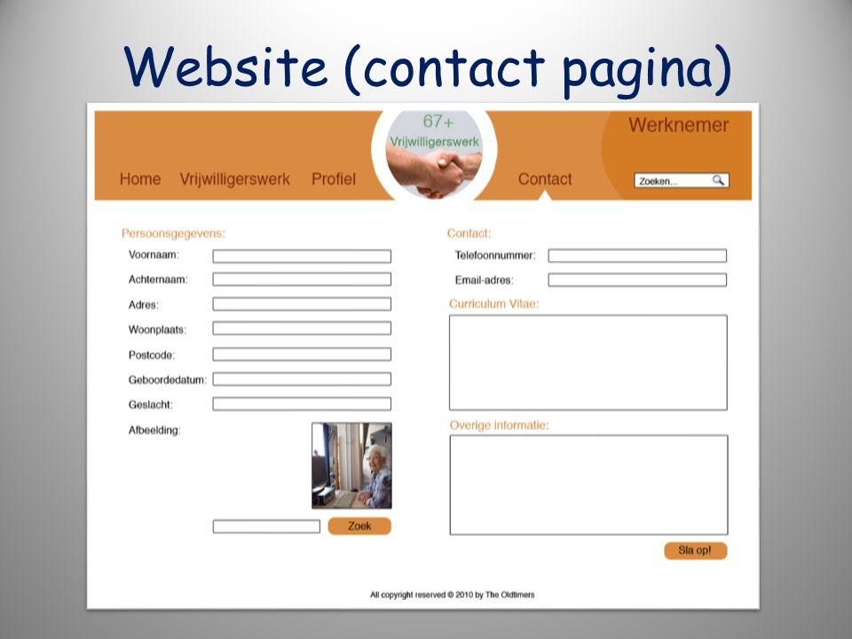 Website (contact pagina)