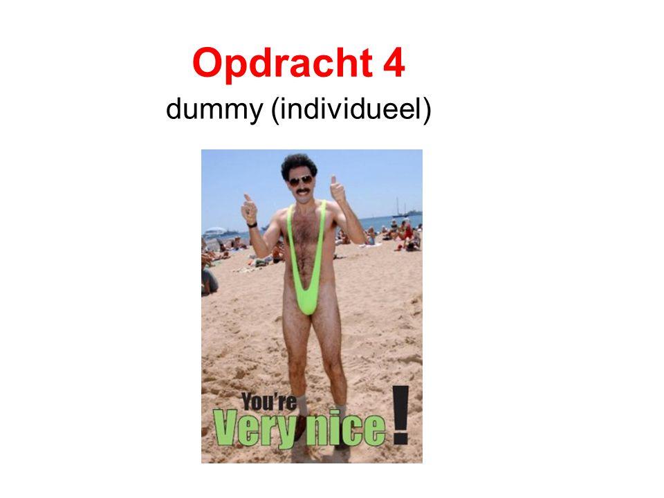 Opdracht 4 dummy (individueel)