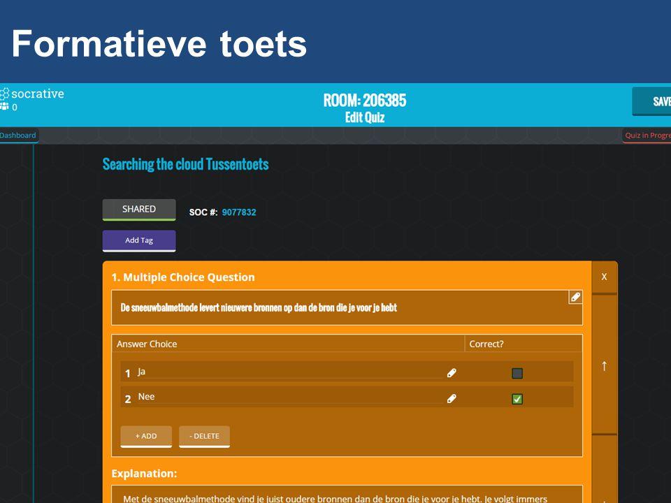 Formatieve toets
