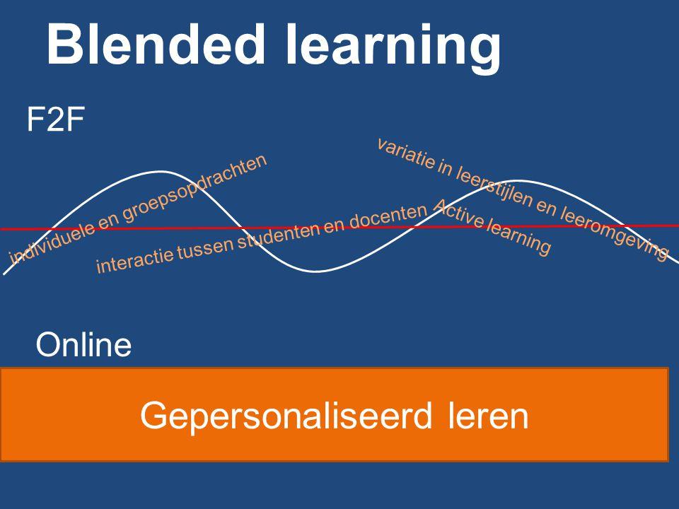 Dus niet bestaand onderwijs 'platslaan' http://www.slideshare.net/UpsideLearning/blended-learning-3374296