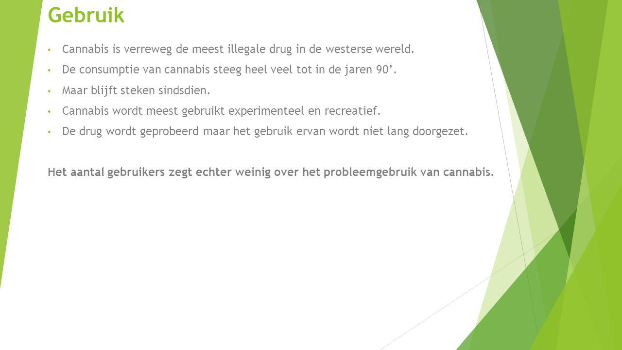 Gebruik Cannabis is verreweg de meest illegale drug in de westerse wereld.