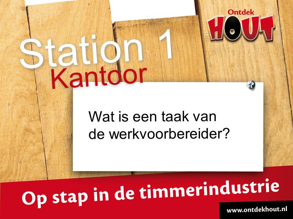 Kantoor Station 1 Wat is een taak van de werkvoorbereider?