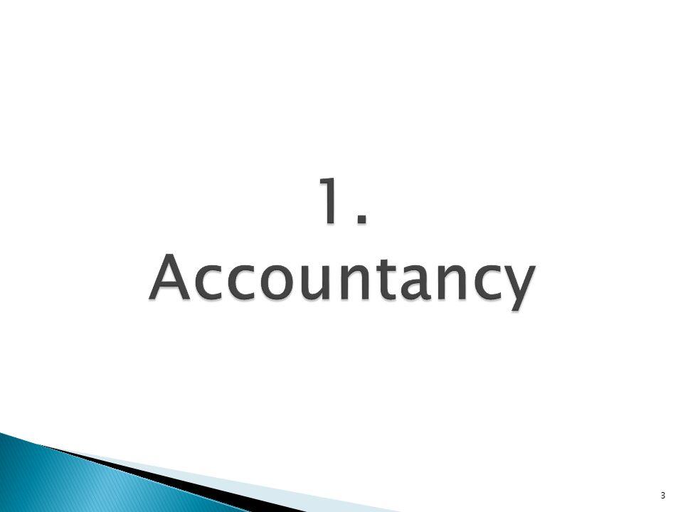  Synoniem voor accounting  Nl: boekhouden  3 onderdelen: ◦ Financial accountancy (algemene boekhouding) ◦ Responsibility accountancy (analytische boekhouding) ◦ Management accountancy (beleidsboekhouding) 4
