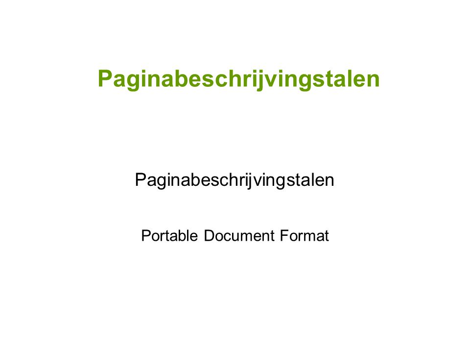 Paginabeschrijvingstalen Portable Document Format