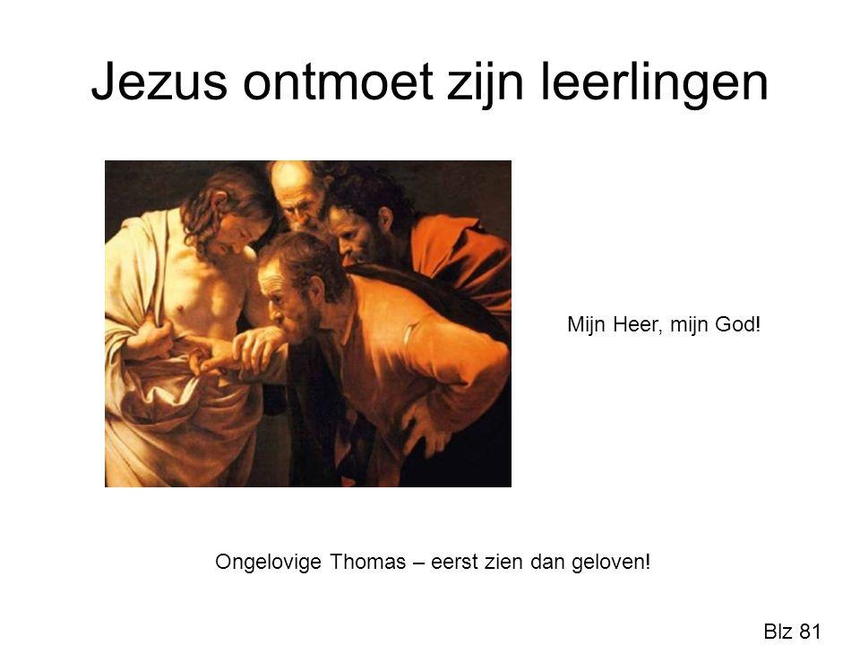 Jezus ontmoet zijn leerlingen Ongelovige Thomas – eerst zien dan geloven! Mijn Heer, mijn God! Blz 81