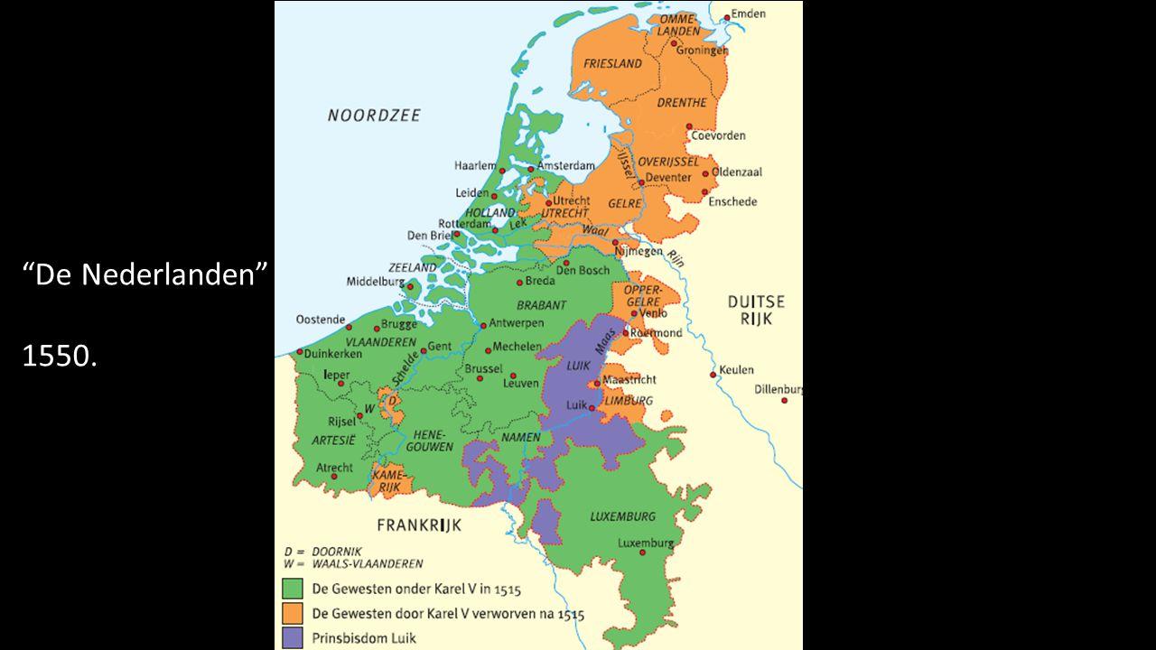 """""""De Nederlanden"""" 1550."""