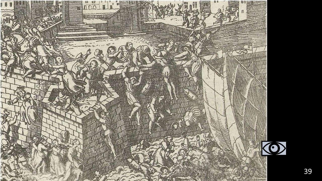 Requens overlijdt: geen opvolger Spanje gaat bankroet: soldaten krijgen geen loon. Plundering van Antwerpen (Spaanse Furie) 39