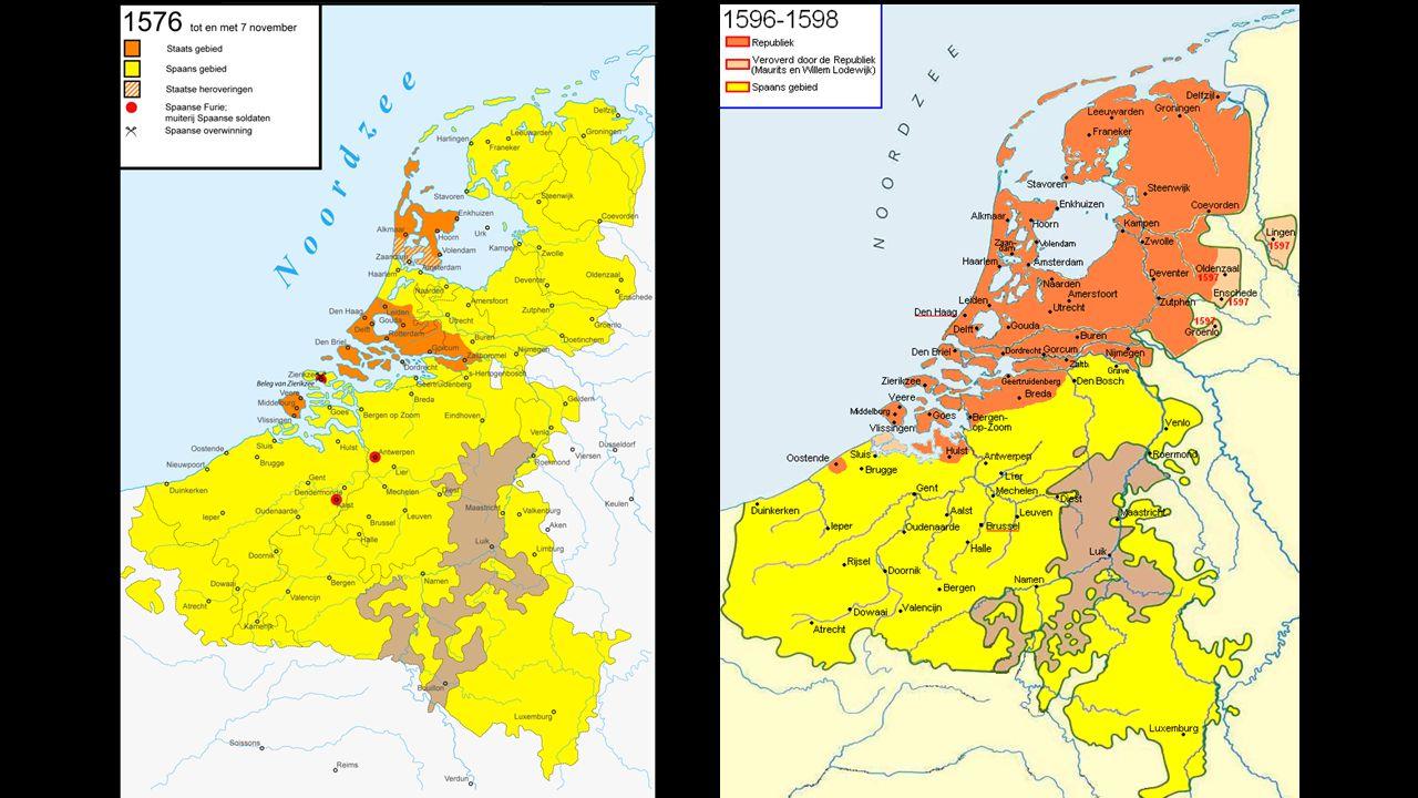 56 1609: twaalfjarig bestand.Vanaf 1621 tot 1648 weer oorlog.