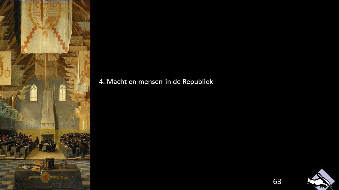 63 4. Macht en mensen in de Republiek