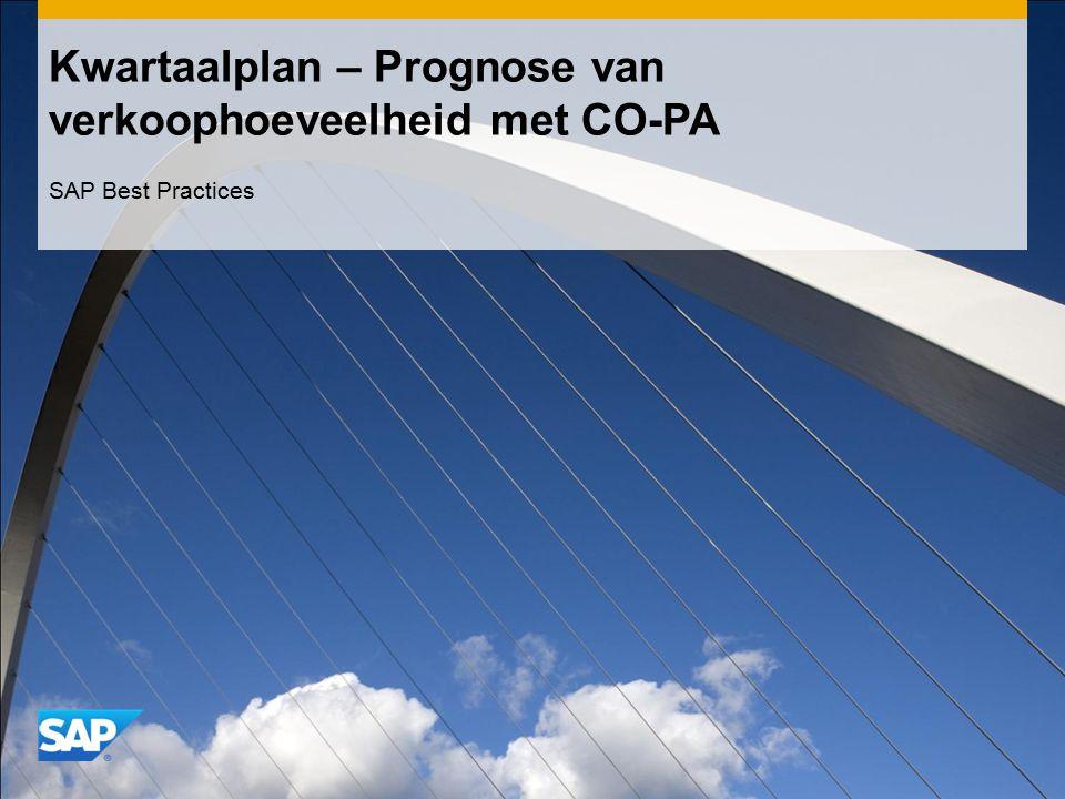 Kwartaalplan – Prognose van verkoophoeveelheid met CO-PA SAP Best Practices
