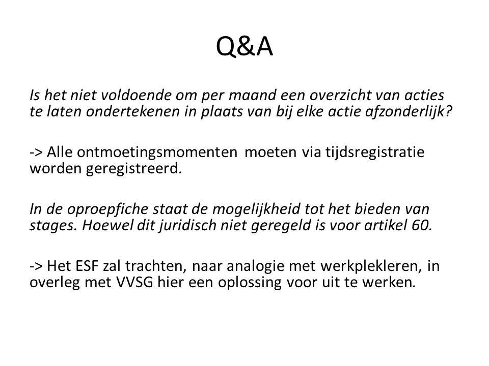 Q&A Het loon voor tewerkstelling artikel 60 kan niet-verhoudingsgewijs verschillen voor andere arbeidsregimes dan voltijds.
