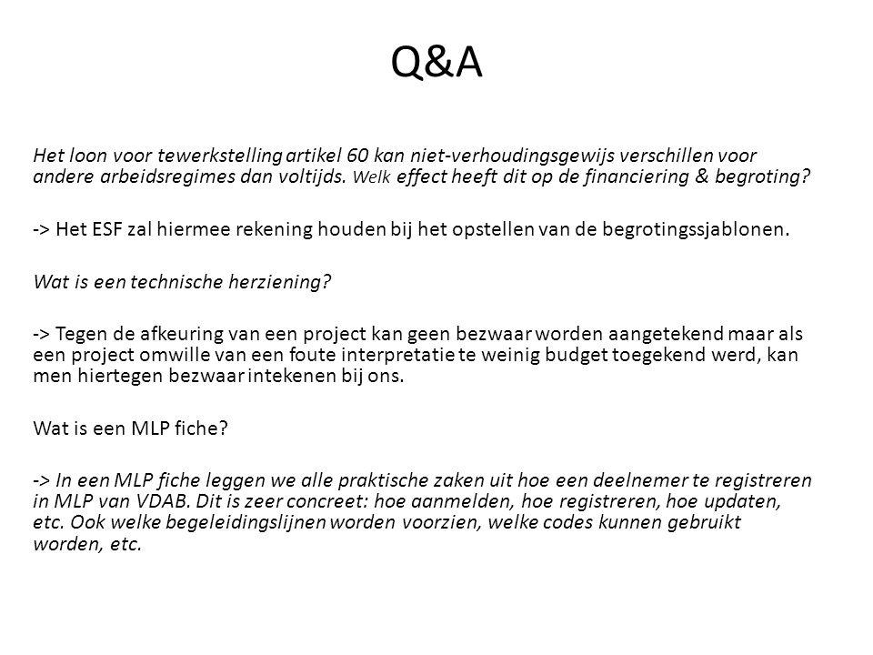 Q&A Kunnen er meerdere projecten in eenzelfde RESOC gebied worden goedgekeurd.