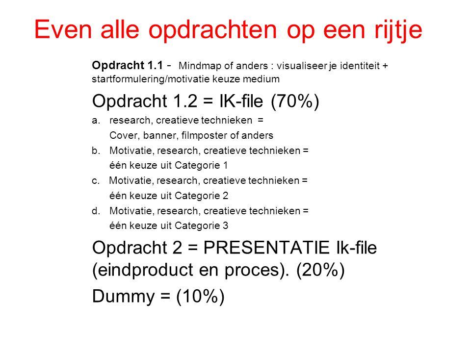 Huiswerk les 7 ( denk aan vastleggen ontwerpproces).