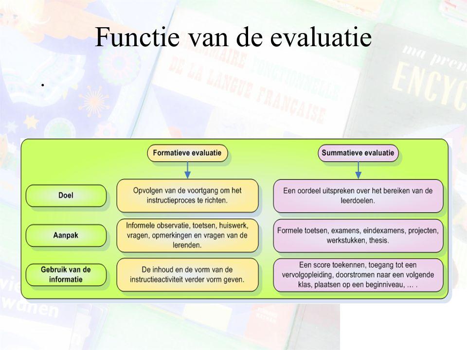Functie van de evaluatie.