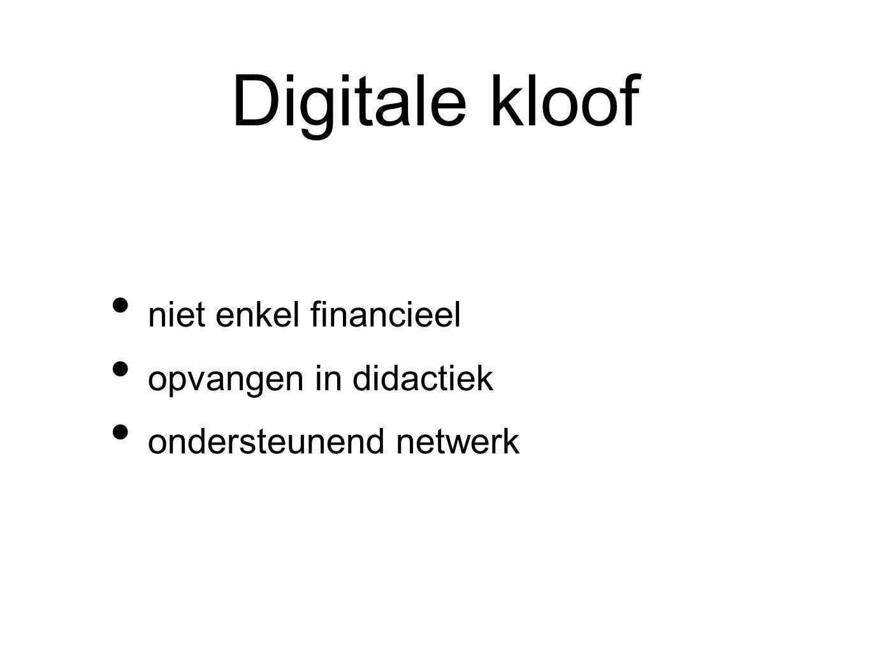 Digitale kloof niet enkel financieel opvangen in didactiek ondersteunend netwerk