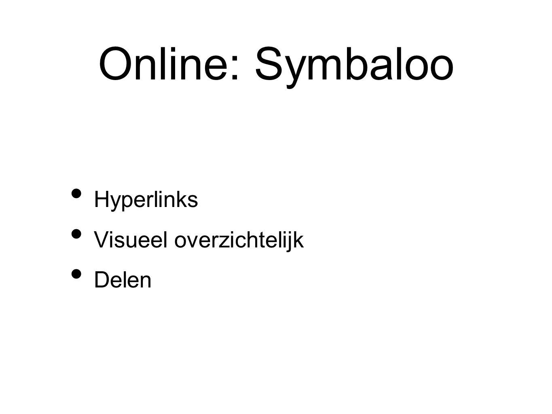 Online: Symbaloo Hyperlinks Visueel overzichtelijk Delen