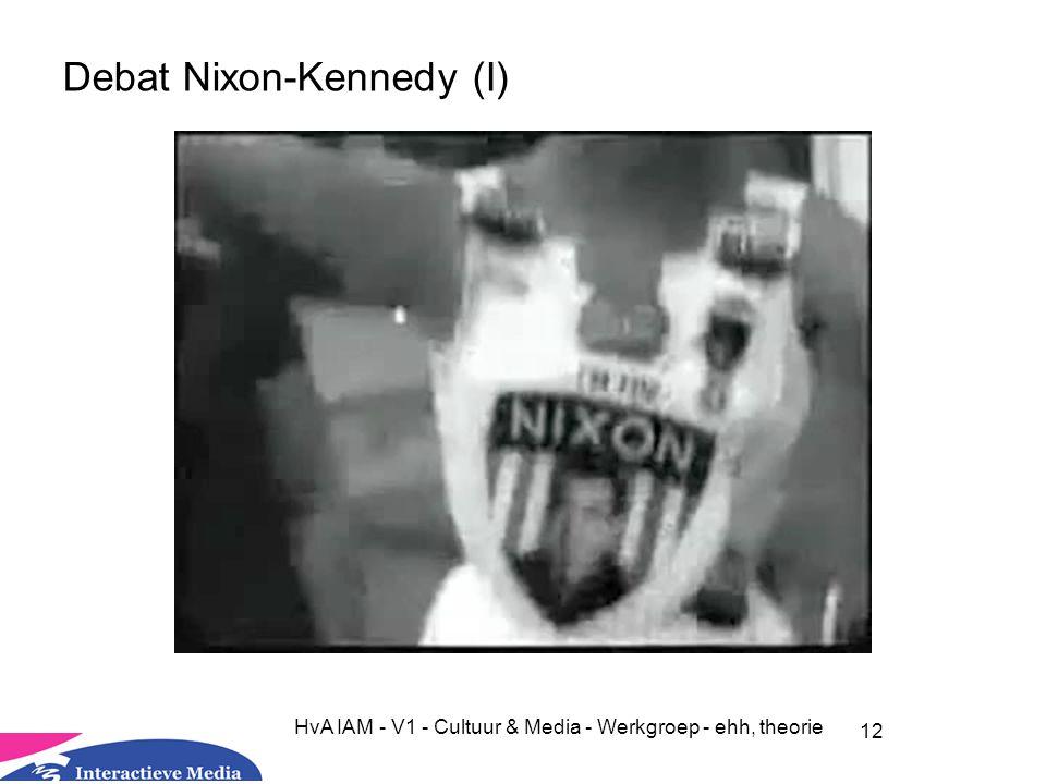 12 HvA IAM - V1 - Cultuur & Media - Werkgroep - ehh, theorie Debat Nixon-Kennedy (I)