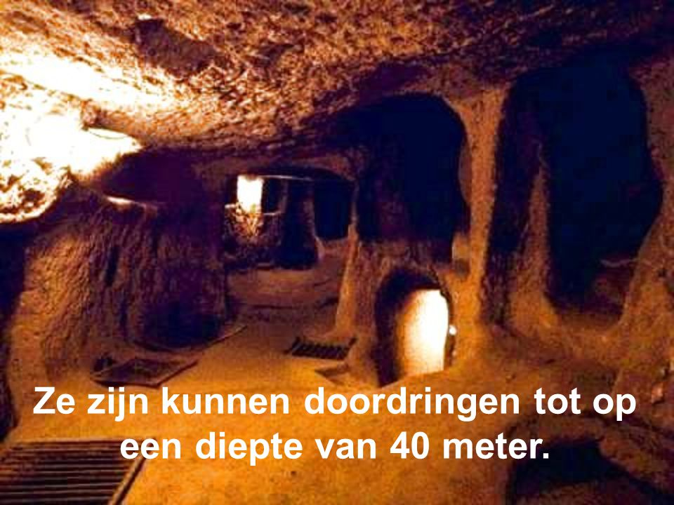 Ze zijn kunnen doordringen tot op een diepte van 40 meter.