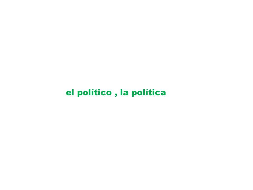 el político, la política