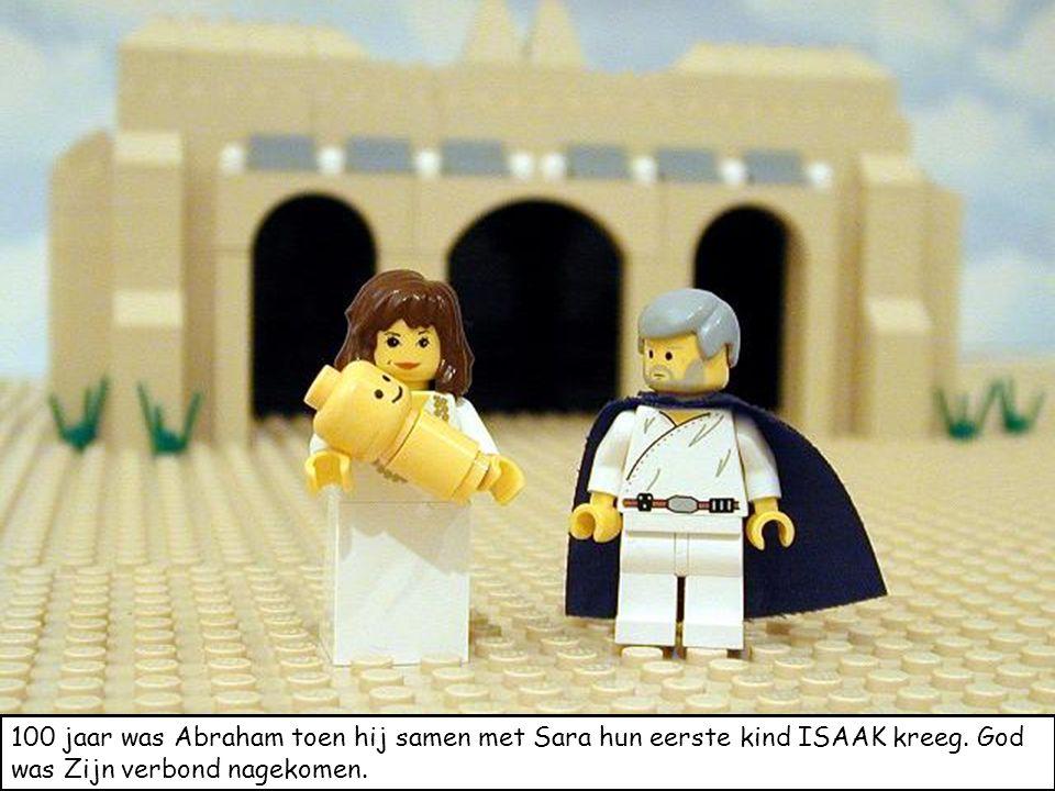 100 jaar was Abraham toen hij samen met Sara hun eerste kind ISAAK kreeg. God was Zijn verbond nagekomen.