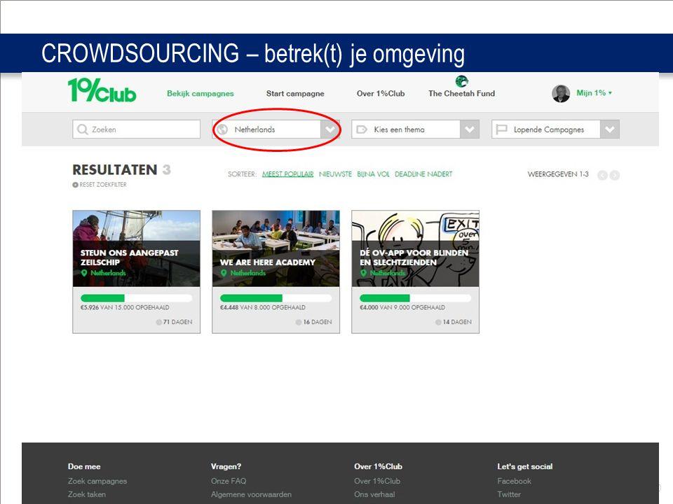 Distrcit Infodag okt 2014 50 CROWDSOURCING – betrek(t) je omgeving