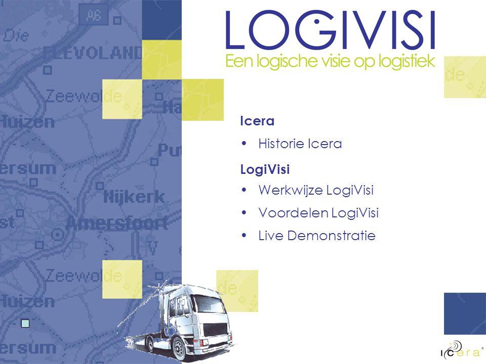 Icera Historie Icera LogiVisi Werkwijze LogiVisi Voordelen LogiVisi Live Demonstratie