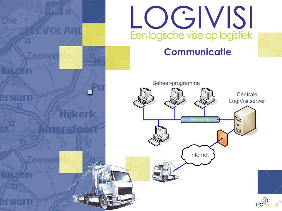 LogiVisi onderdelen Realtime-koppeling CANbus Planning op kantoor Ontvangst door chauffeur Navigeren naar bestemming vanuit de planning Berichten van/naar kantoor Realtime info op kantoor van CANbus-gegevens