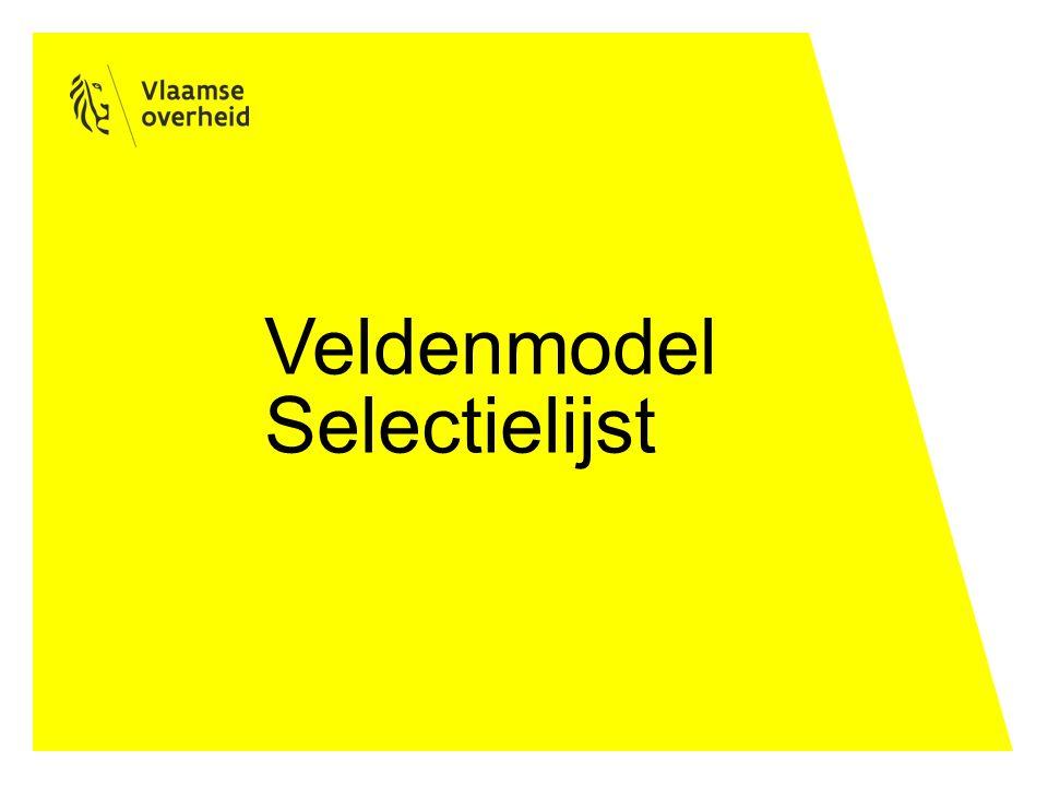 Inhoudsopgave Veldenmodel algemene selectielijst Relatie met informatiebeheersplan Welke velden van een informatiebeheersplan worden door de selectiecommissie beoordeeld?