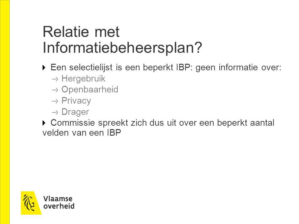 Relatie met Informatiebeheersplan.