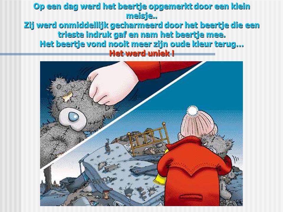 Het kleine beertje had het heel koud, zodanig dat zijn bruine vel grijs werd, zijn neusje werd blauw …