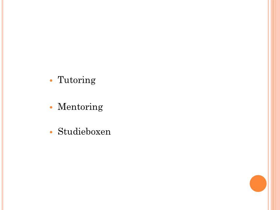 Tutoring Mentoring Studieboxen